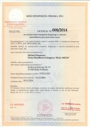 Licencja czI