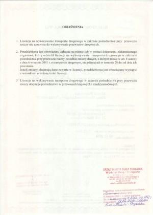 Licencja czII
